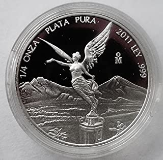 2011 Mexico 1/4 oz Silver Libertad Proof (In Capsule) Silver Mint State