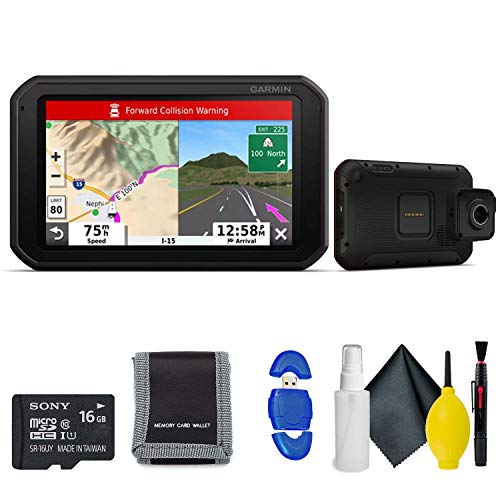 Garmin RV 785 & Traffic, Advanced GPS Navigator for RVs with Built-in Dash Cam, 7' Touch Display and Voice-Activated Navigation Standard Accessory Kit