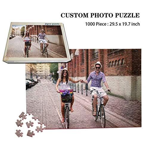 1000 stuk gepersonaliseerde foto puzzel, DIY houten puzzel met uw eigen familie huwelijksafbeelding, unieke gepersonaliseerde doosomslag, 29.5x19.7 inch