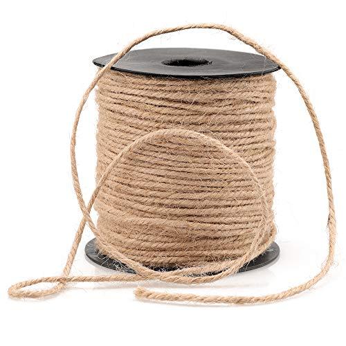 3mm Jute Twine,328 Feet Jute Rope Jute Cord Best Arts Crafts Gift Twine Durable String