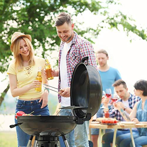TACKLIFE Holzkohle Grill, Kugelgrill 91 * 76 * 56 cm, ø 57cm mit 4 Dicke Beine, Rundgrill mit Extra Grill und Regal, geeignet für Partys, Camping, Grillen (Empfohlene: 5-12 Personen) - CG01A - 8