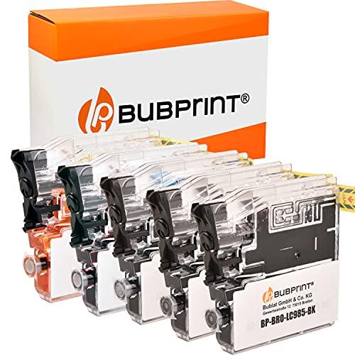 Bubprint Kompatibel Druckerpatronen als Ersatz für Brother LC-985 für DCP-J125 DCP-J140W DCP-J315W DCP-J515W MFC-J220 MFC-J265W MFC-J410 MFC-J415W Multipack 5er-Pack
