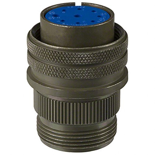 Amphenol 97 Series Cylindrical Connector 97-3106A20-16S (also listed as MS3106A20-16S), 9 Contact, Straight Plug, 20-16 Arrangement, 20 Shell Size