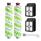 Replacement Parts Multi-Surface Pet Brush Roll and 1866 Vacuum Filters Replacement for Bissell CrossWave Pet Pro 2306 1785 Series Vacuum Cleaner.(Pack of 2 Pet Brush roll + 2 Filters)