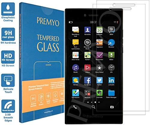 PREMYO 2 Piezas Cristal Templado Protector de Pantalla Compatible con Blackberry Leap Dureza 9H Bordes 2,5D Sin Burbujas contra Arañazos