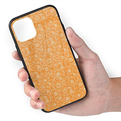 Orange White iPhone 11 Case,Anti-Yellow Anti-Scratch Shockproof Cover Compatible with iPhone,Dual Layer Rugged Bumper Case for iPhone 11 Pro Max iPhone 11 Pro max