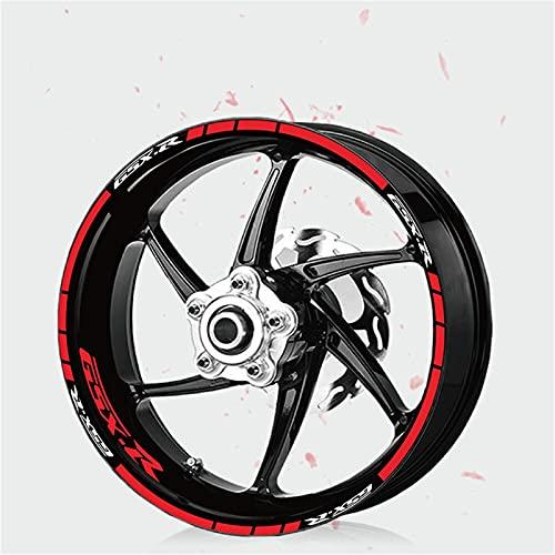 Pegatinas de ruedas reflectantes Pegatinas de la motocicleta Forma de la rueda de la rueda Pegatinas Súper MEMBRABA PARA GSX-R GSXR