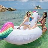 Riesiges Aufblasbares Einhorn Luftmatratze, Einhorn Aufblasbar Insel für 2-3 Personen, Aufblasbare...