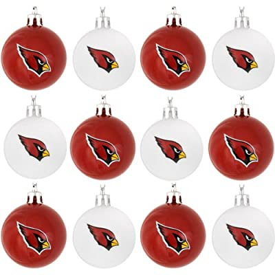 NFL Football Plastic Ball Holiday Tree Ornament Set (12 Pack) - Pick Team