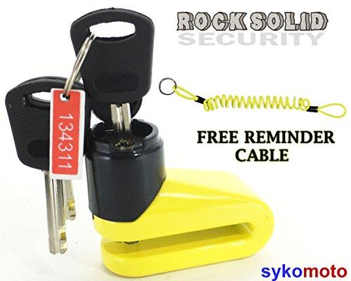 Rocksolid Trigger II Motorfietsbeveiliging DiscLock Hangslot Grootte 5.5 mm Fietsbescherming