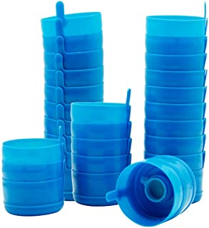 Happy Trees 3 and 5 Gallon Reusable Lids for Water Dispenser Jugs, 55 mm Anti-Splash Caps for Water Containers, Non-Spill Water Jug Replacement Caps, 30 Pcs