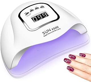 Lámpara de uñas UV LED 150W, luz UV de uñas con 4 temporizadores, secado de esmalte de uñas de gel LED, herramientas profesionales de arte de uñas con sensor automático, pantalla LCD
