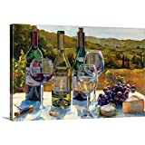 wine and cheese canvas - A Wine Tasting Canvas Wall Art Print, 48