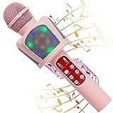 Karaoke Microphone for Kids, 5 in 1 Bluetooth Wireless Karaoke with...