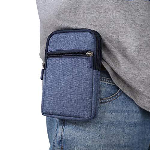 Funda con Clip de Cinturón para Teléfono Móvil, 6.3' Tactical Molle Bolsa para Cinturón Vertical Clip Caso Bolsas de Cintura Hombre Teléfono para Cinturón para Deportes Senderismo Camping Viaje