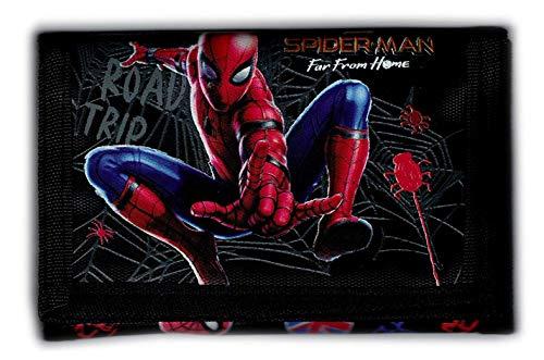 Marvel Spiderman - Monedero, Cartera, Cartera para niños, diseño de Spiderman Far from Home Talla única