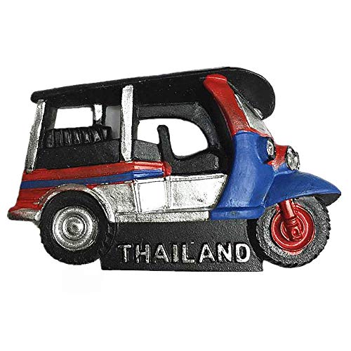 Imán de nevera 3D de Bangkok Tuk-Tuk Tailandia para regalo turístico, decoración para el hogar y la cocina, pegatina magnética de Bangkok Tailandia colección de imanes para nevera,