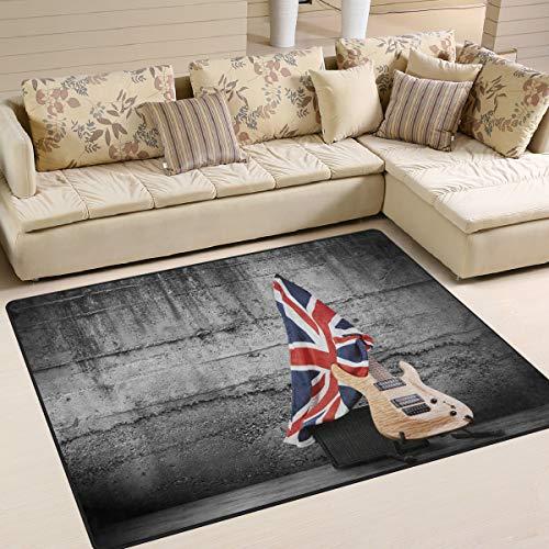 Use7 Teppich für elektrische Gitarre, Motiv Union Jack mit britischer Flagge, Textil, multi, 203cm x 147.3cm(7 x 5 feet)