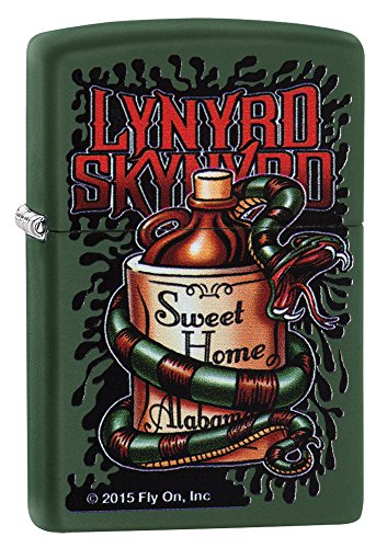 New Zippo Lynyrd Skynyrd Green Matte Lighter