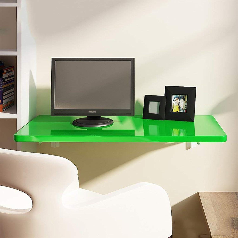 forma única Wghz Mesa Plegable Mesa de Comedor Comedor Comedor Mesa de Parojo Colgador Escritorio de la computadora Colgador de Parojo Mesa de Estudio, verde (Tamaño  100  50 cm)  Precio por piso