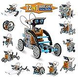 KIDCHEER STEM 12-in-1 DIY Solar Robot Toys 190PCS ScienceExperiment Kit for Kids 8+