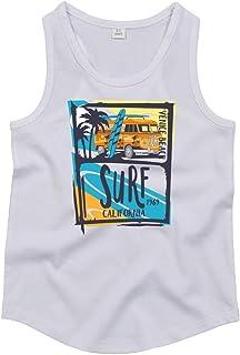 Drucklebnis24 Camiseta sin mangas para surf, playa, coche, vacaciones, unisex, para niño y niña
