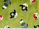 ab 1m: Superflausch, Piraten, farngrün, 150cm breit