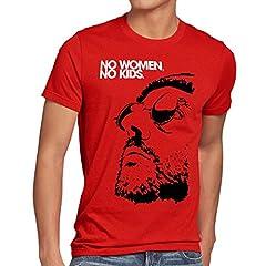 No Women, No Kids Camiseta para Hombre T-Shirt el Profesional Léon