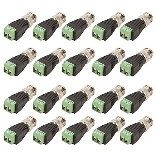 Greatangle 20Pcs / Lot Mini Coax CAT5 a la cámara CCTV BNC UTP Video Balun Adaptador de Conector BNC Enchufe para Accesorios del Sistema CCTV