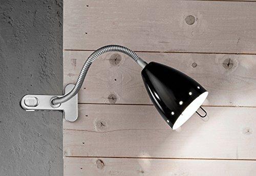 Lampada Da Tavolo Nera Flex Con Pinza - Misure H.51X11 Cm - 1Xe14 Max. 40W - Lampada Modello Perenz 4512N