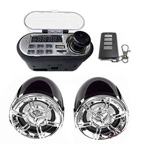 SODIAL Sistema de Sonido de Audio de Motocicleta Altavoz EstéReo Moto una Prueba de Agua Scooter Radio FM USB TF MP3 Kit de Reproductor de MúSica
