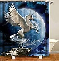AUGHTM 家の装飾のためのフックが付いている防水シャワーカーテン浴室のカーテン