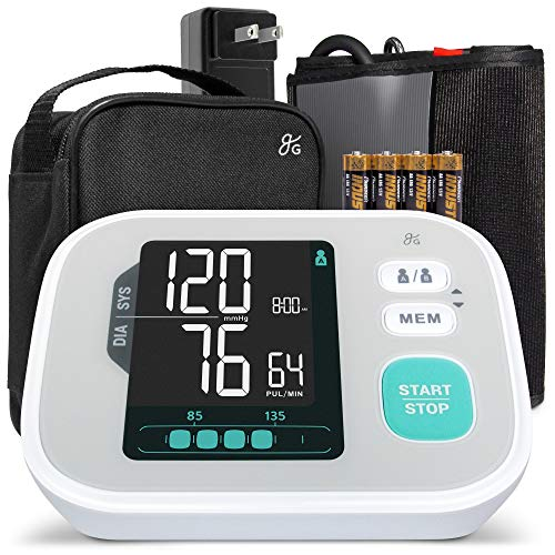 Greater Goods Pro-Series Blood Pressure Monitor, Premium Hardware Including Large Backlit Easy to Read LCD