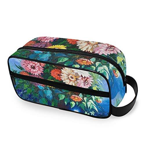 Sac de maquillage de sac à main Portable Vase Flower Storage Storage Toiletry Pouch Tools Cosmetic Train Case