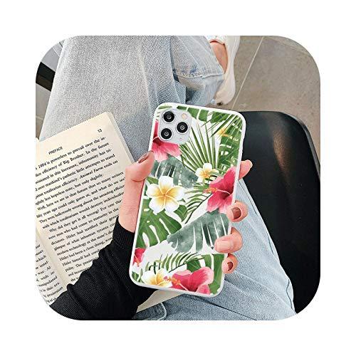 Friendshiy - Funda para Redmi Note 9S, diseño floral de hojas para Xiaomi Poco F2 Mi A3 9 Se Lite 9T A2 Redmi Note 9S 8T 9 8 7 6 5 K20 K30 Pro 7A 8A 10X -Kbd-ly4hohua-For Mi A2 and Mi 6X