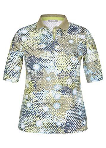 Rabe Damen Poloshirt mit Allover-Print im Wabenmuster