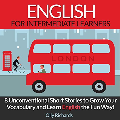 English Short Stories for Intermediate Learners audiobook cover art