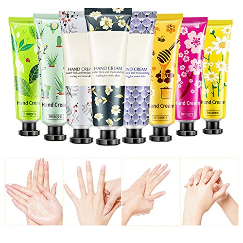 BONNIESTORE 8 Pack Plant Fragrance Hand Cream Moisturizing Hand Care Cream Travel Gift Set With Natural Aloe And Vitamin E For Men And Women30ml