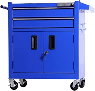 Tool Trolley, Multi-Function Auto Repair Tool Car Repair Tool Cabinet Mobile Toolbox Trolley Size 62 * 33.5 * 75CM (Color : Blue, Size : 62 * 33.5 * 75CM)