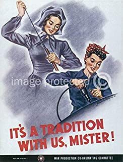 AGS - Its a Tradition with Us Mister Vintage World War II Two WW2 WWII USA Military Propaganda Poster - 24x36