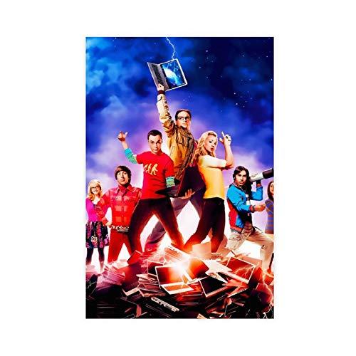 Poster su tela con stampa 'The Big Bang Theory', decorazione da parete per soggiorno, camera da letto, 40 x 60 cm