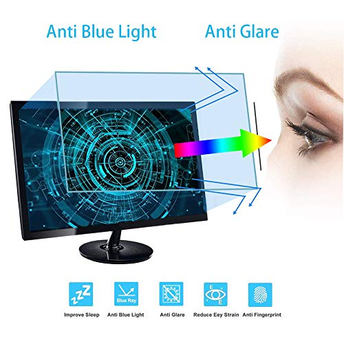 """VIUAUAX 27"""" Eyes Protection Anti Blue Light Anti Glare Screen Protector fit 27 Inches Widescreen Desktop Monitor Screen (23.4""""x13.2""""). Reduces Digital Eye Strain Help You Sleep Better"""