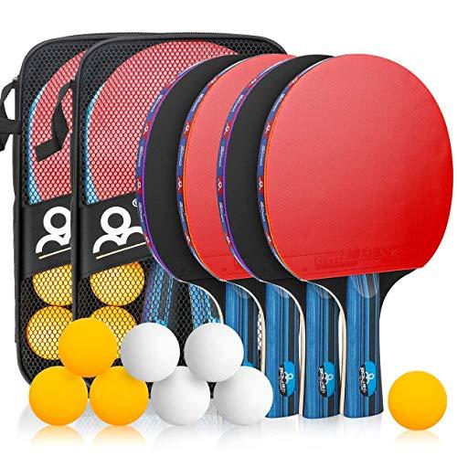 Powcan Ping Pong Set Portable Table Tennis Set Ping-Pong Game Pingpong...