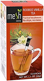 Mesh Vanilla Rooibos Stick Tea | 16 Sticks | Premium Instant Tea | No Artificial Colors or Flavors, No Messy Tea Bags, No ...