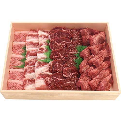 焼肉 1kg 牛タン カルビ ハラミ ( サガリ ) 3部位4種 松阪牛 入り 食べ比べ 焼肉セット バーベキュー 肉セット お取り寄せグルメ ギフト 熨斗対応 クール便 冷凍 お届け