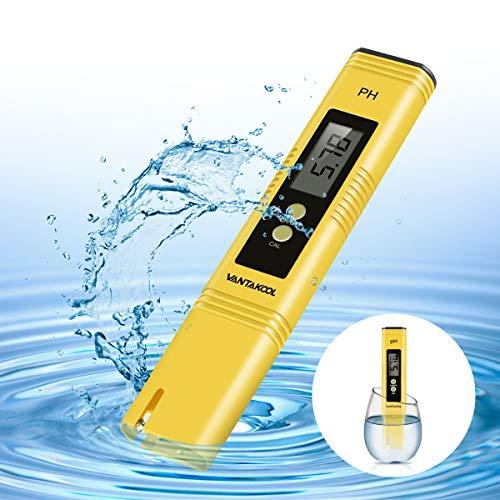 Digital PH Meter, VANTAKOOL PH Meter 0.01 PH High Accuracy Water Quality Tester with 0-14 PH Measurement Range for Household Drinking, Pool and Aquarium Water PH Tester Design with ATC