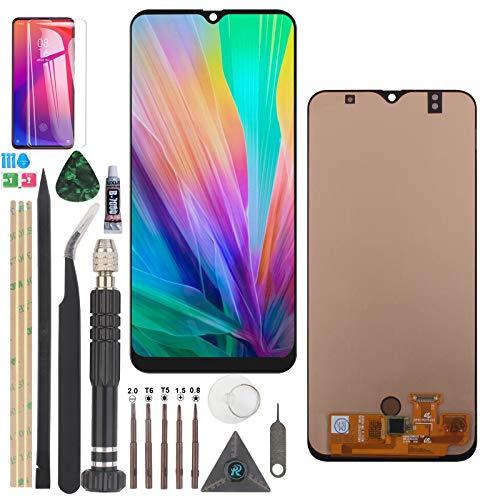 RongZy AMOLED para Samsung Galaxy A50 LCD Display para Galaxy A50S LCD Display Touch Screen Digitalizador de Pantalla Táctil + Herramientas (Negro)