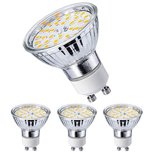 GU10 LED Warmweiss Lampen 5W 420 Lumen AC 220V-240V LED Leuchtmittel 2800 Kelvin Warmweiß Energiesparlampe ersetzt 40W Halogenlampen 120 Grad Abstrahlwinkel Glühbirnen, 4 Stück