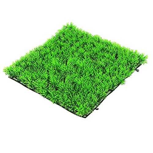 Joyfan carré Vert gazon artificiel pelouse Fish Tank pelouse Aquarium Faux Herbe Tapis de décoration, Plastique, style 1, Taille unique
