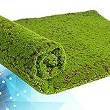 VORCOOL Césped Artificial Liquen Musgo Césped Falso Plantas Esteras Césped Artificial Esteras Césped DIY Césped Sintético Alfombra para Patio Interior Decoración Exterior